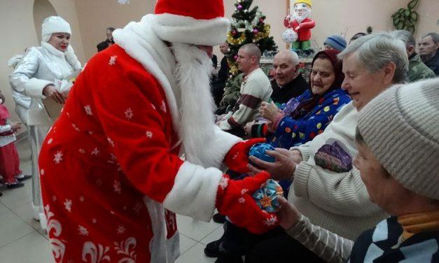 Поздравления с Новым годом и Рождеством проживающих Волковысского районного дома-интерната для престарелых и инвалидов