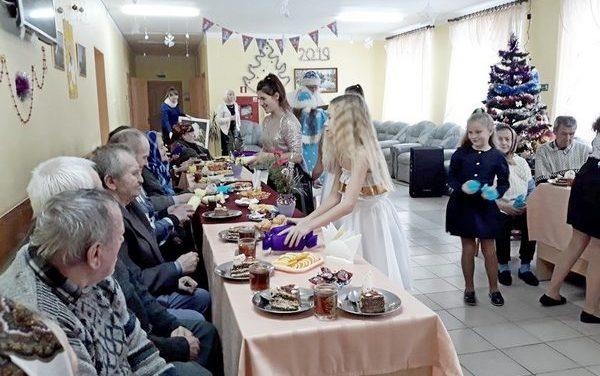 Поздравление граждан пожилого возраста с Новым 2019 годом и Рождеством Христовым.