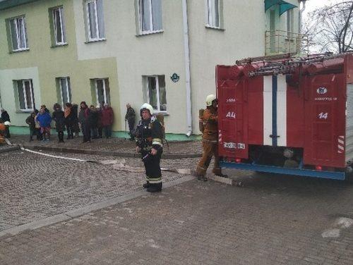 Отработка плана эвакуации в отделении круглосуточного пребывания для граждан пожилого возраста и инвалидов Новогрудского района