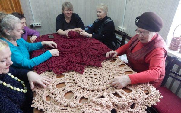 Мастер-класс «Ковровая техника вязания»