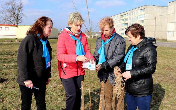 К 75-летию образования Гродненской области в г.Зельва посадили аллею знаменитых женщин Зельвенщины