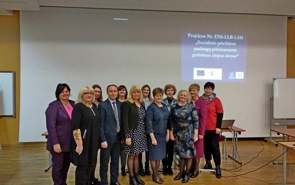 Стартовая конференция по проекту «Расширение доступа к социальным услугам через границу»