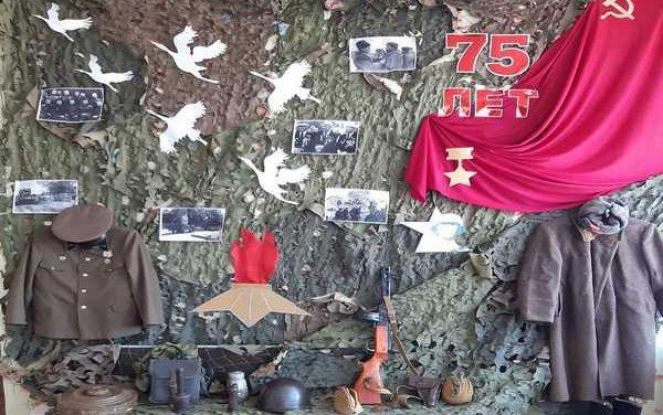 В территориальных центрах социального обслуживания населения и домах-интернатах области созданы фотозоны, посвященные 75-летию Победы советского народа в Великой Отечественной войне