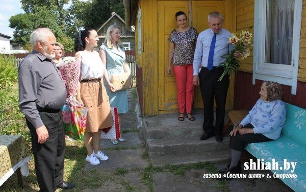 Чествование 100-летней жительницы района
